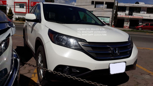 honda crv ex 2014 piel 4 cil aut enganche $ 49,000