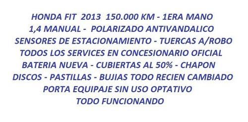 honda fit 1.4 lx-l mt 100cv 2013