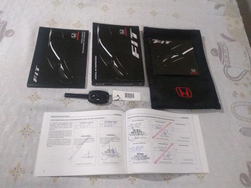 honda fit 2012/2013 lx 1.4 completo + manual e chave reserva