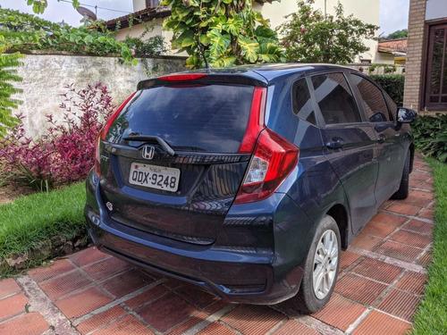 honda fit lx 1.5 automático 17/18 azul indico, motivo viagem