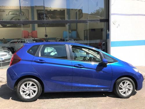 honda fit lx 1.5 flex automático azul  2015