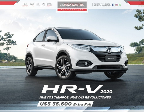 honda hr-v  2020 exl 2wd at extra full entrega inmediata !!!