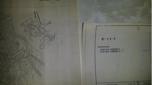 honda manual c50 / c70,cb 250/400, mb 100, cg 11/125