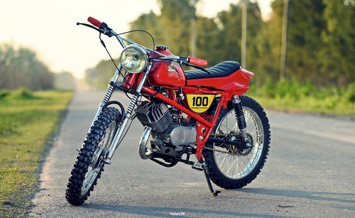 honda mb100 enduro tracker japon años 80 customizada 100%