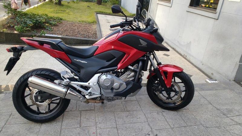 honda nc 700 x abs muito nova troco moto e financio 2014
