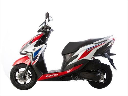 honda new elite 125 tricolor scooter dompa motos