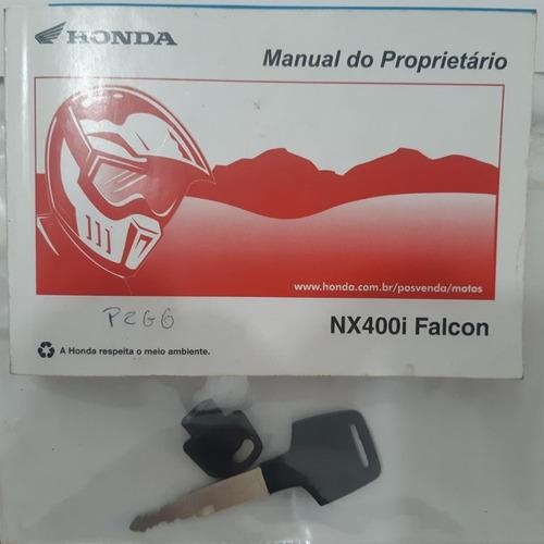 honda nx4 falcon 400i ano 2013 preta impecável