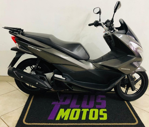 honda pcx 150 cinza linda moto, ano 2016