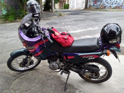 honda sahara linda roxa 97 moto excelente doc 0