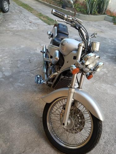 honda shadow 600, ano 1998, prata