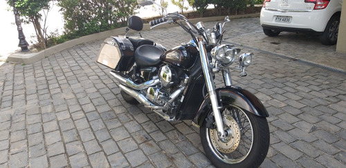 honda shadow 750 preta 2010 completa + acessórios troco