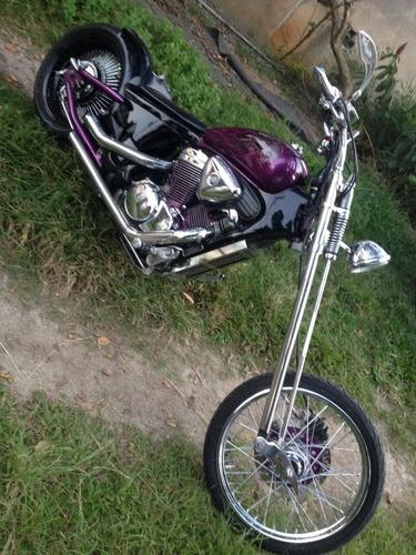 honda shadow vt600c chopper c/ suspensão a ar!