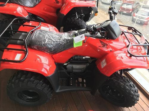 honda trx 250 tm 2018 0 km nuevo rojo moto sur