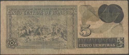 honduras 5 lempiras 13 feb 1978 p59b