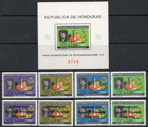 honduras bloc +8 sellos muerte de robert f. kennedy año 1969