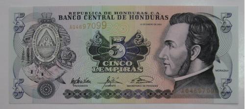 honduras: linda cédula de 5 lempiras de 2003 fe