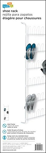 honeycando sho01169 perchero para puerta zapatero color blan