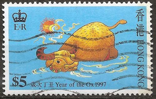 hong kong china colonia británica valor de $5 año 1997