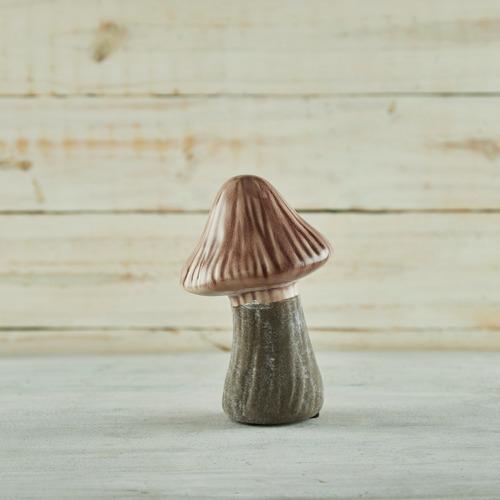 hongo seta marrón chico okko cerámica marrón