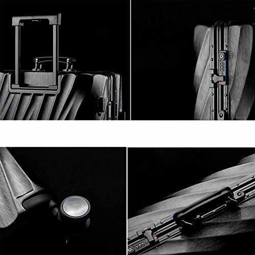 Hongsheng Trolley Case Universal Wheel Aluminum Frame Travel Unisex,Silver,28