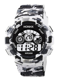 Electronic Hombres Digital Alar Reloj Semana Honhx Led Fecha uF1T3KJcl