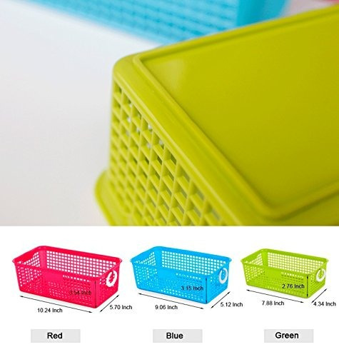 honla perforated plastic storage cestas de anidamiento /