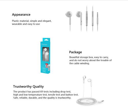 honor am115 auricular 3.5mm in- oreja auricular auriculares