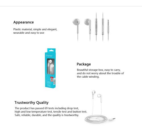 honor am115 earphone 3.5mm in-ear earbud headset alámbrico a
