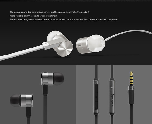 honor am13 auricular 3.5mm 4pin bass control de auriculares