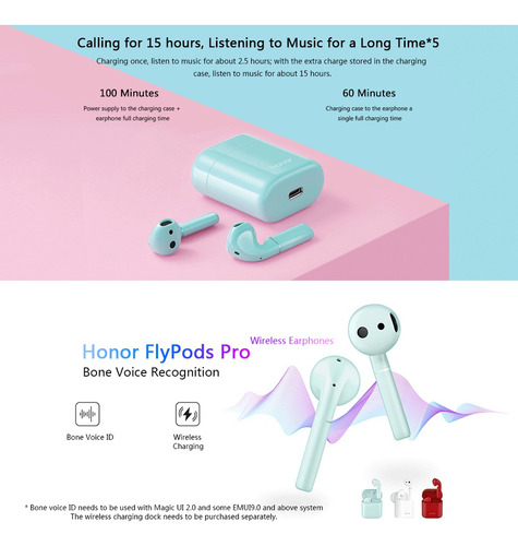 honor cm h2 flypods pro auricular sin hilos hueso voice id