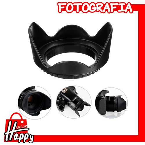 hood - parasol tipo pétalo 58mm canon/nikon/pentax/sony