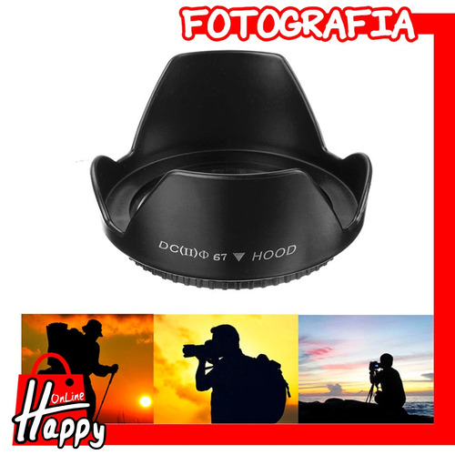 hood - parasol tipo pétalo 67mm canon/nikon/pentax/sony