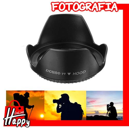 hood - parasol tipo pétalo 77mm canon/nikon/pentax/sony
