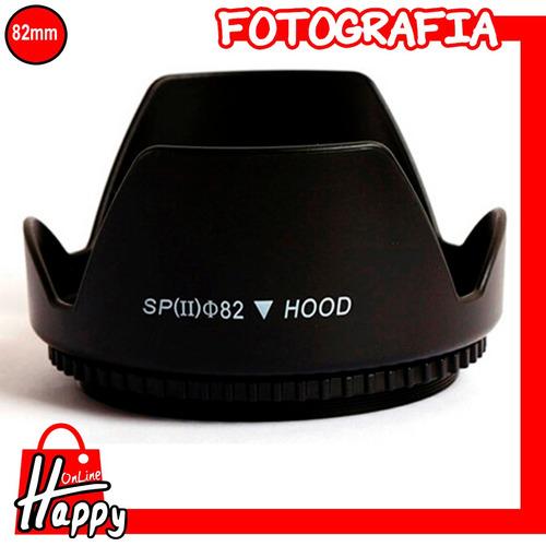 hood - parasol tipo pétalo 82mm canon/nikon/pentax/sony