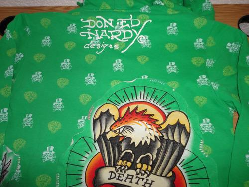 hoodie ed hardy by christian audigier talla: l 100% original