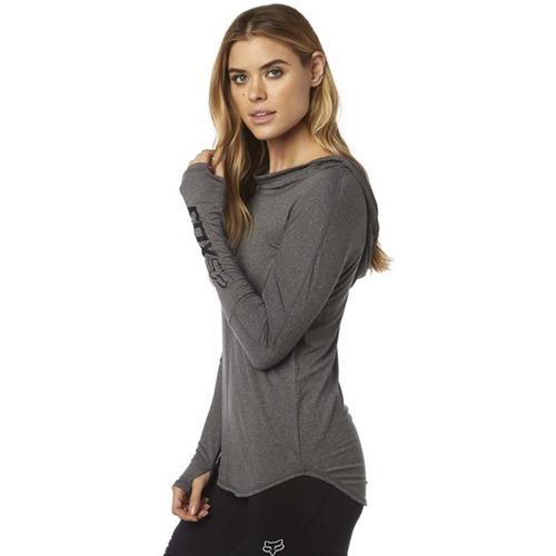 hoodie fox contoured gris