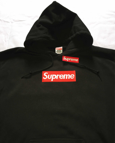 hoodie gildan tipo supreme box logo bordado hype swag