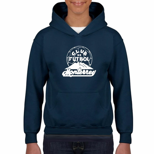 hoodie / sudadera estampada monterrey rayados retro 1