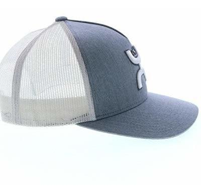 Grey//White Trucker Cap HOOey Platinum