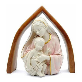 Hora Comoda 13  Religiosa Virgen Maria Y Niño Bebe Estatua,