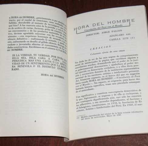 hora del hombre 1943 - 1983 mayo agosto jorge falcón