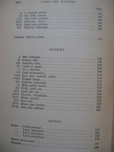 horace - odes et épodes. texto francés y latino