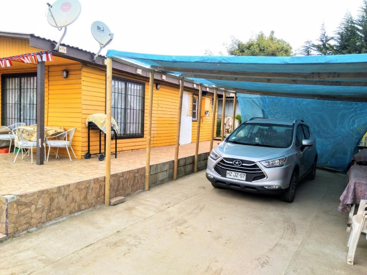 horcon, casa 5 d + 2 b + rol + luz + agua + estacionamiento
