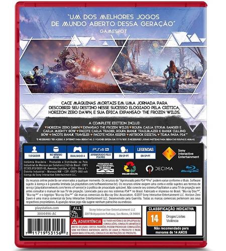 horizon zero dawn complete edition ps4 português midia fisica nf