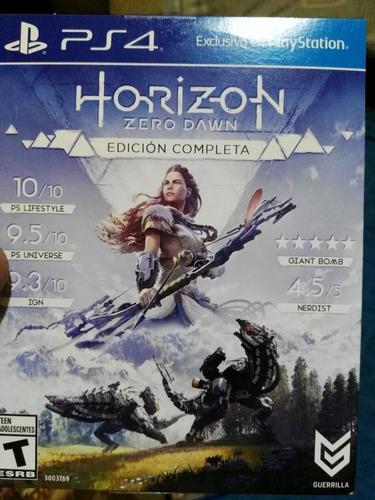 horizon zero dawn ps4 usado 9/10