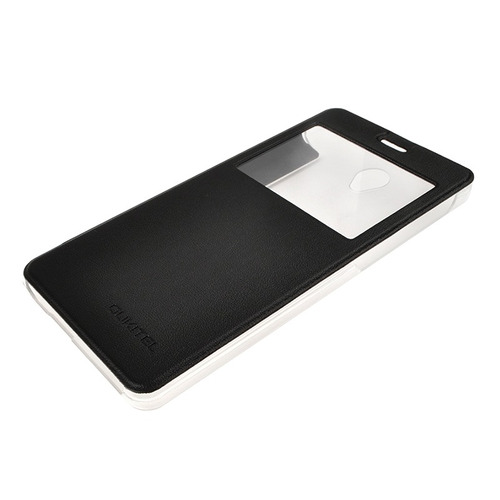 horizontal flip funda cuero identificador llamada pantalla