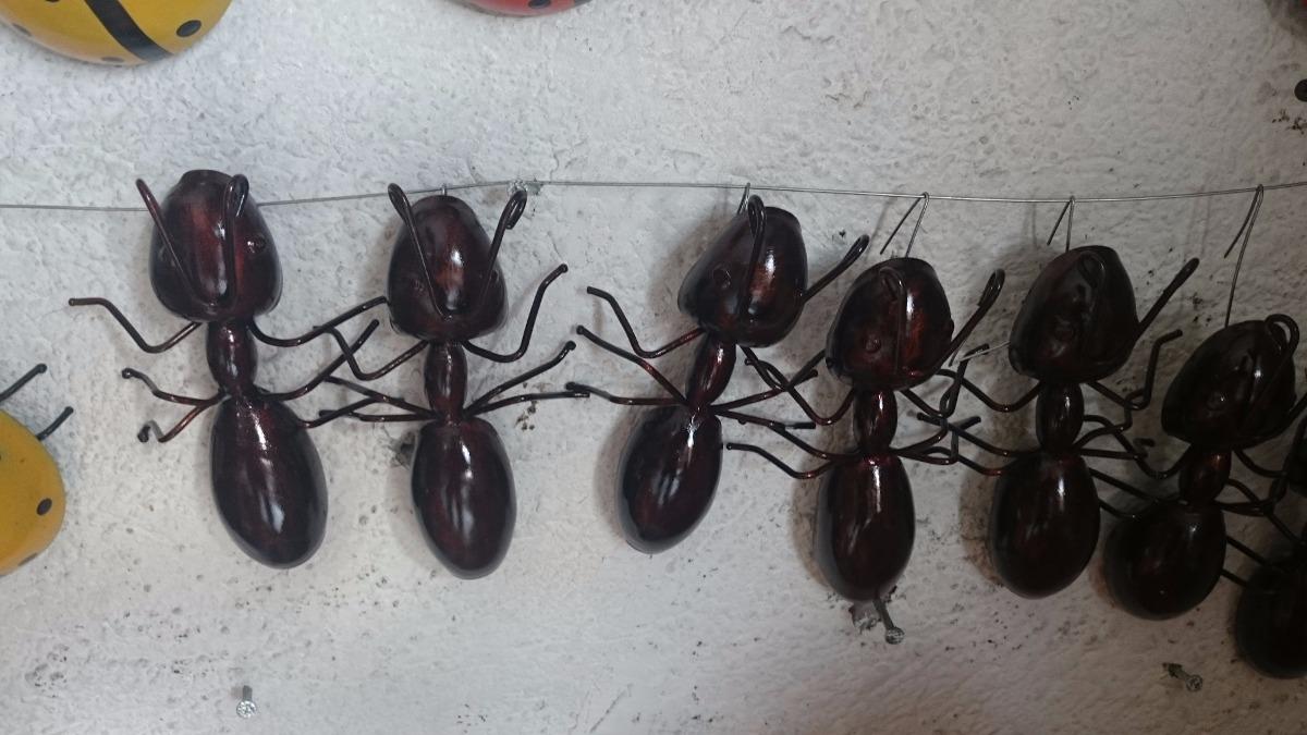 Hormigas de metal herreria para decoracion en for Decoracion en metal para pared