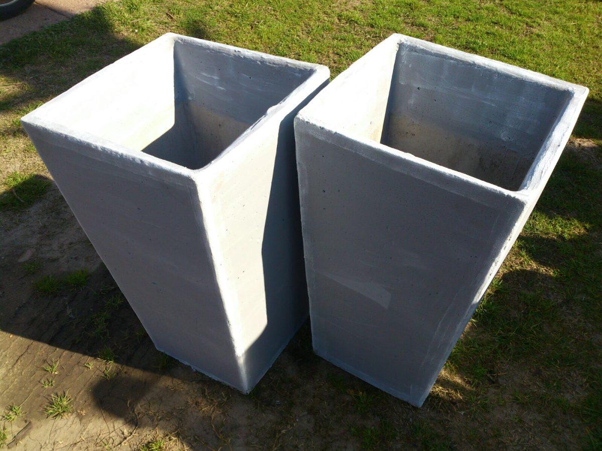 Macetas taca piramidales de hormigon para jardin e - Macetas interior ...