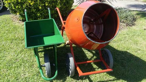 hormigonera trompo reforzad 1 hp combo + carretilla ref 85 l