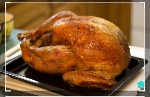 hornada de pavos, pollos